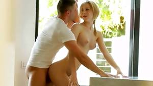 Pair looks flawless during spanking